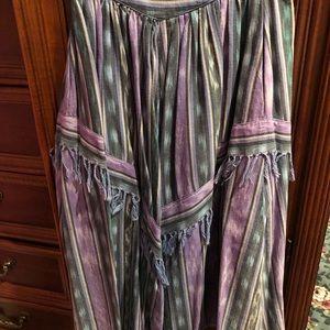 Dresses & Skirts - LN Southwestern skirt fringe nice quality S hippy